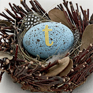 easter crafts - rustic nest and egg