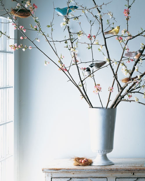 crepe paper spring birds