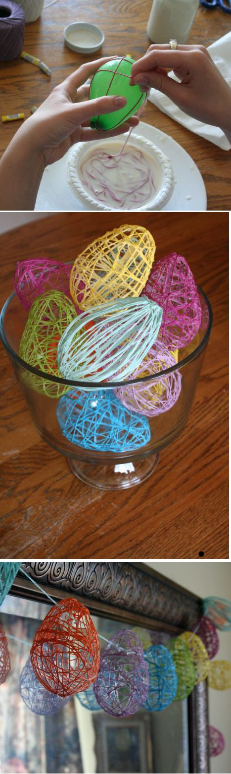easter crafts - egg garland
