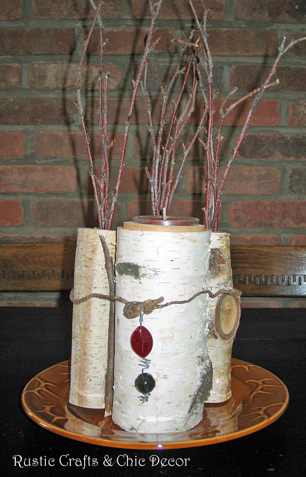 centerpiece crafts - rustic centerpiece