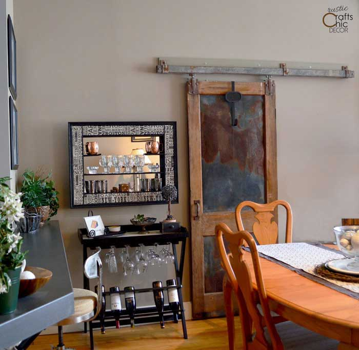 decorating with architectural salvage - sliding vintage door