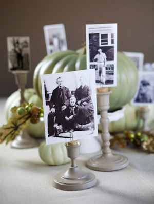 centerpiece crafts - candlestick photo holders
