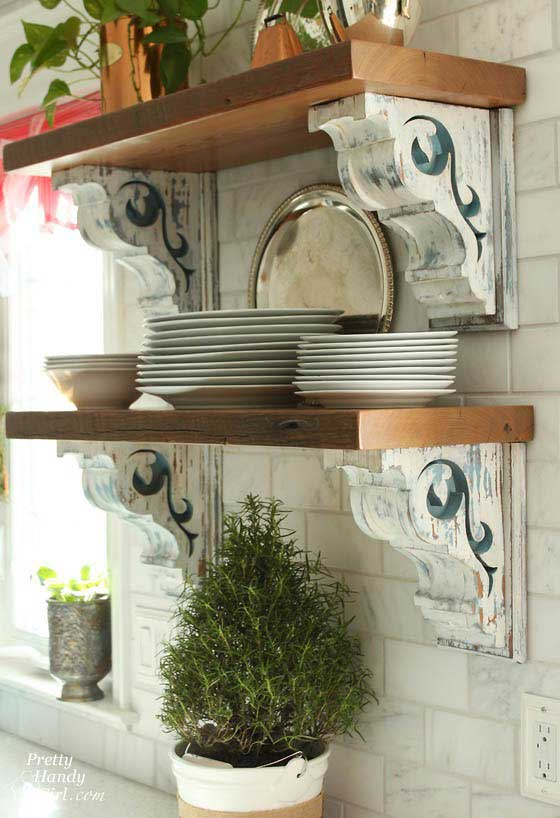 decorating with architectural salvage - vintage corbels