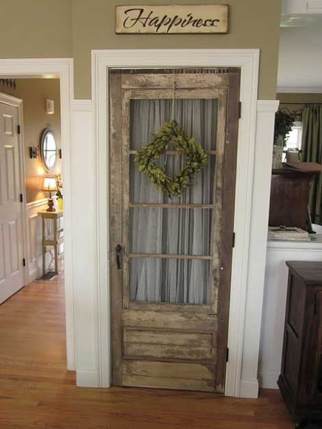 decorating with architectural salvage- vintage doors