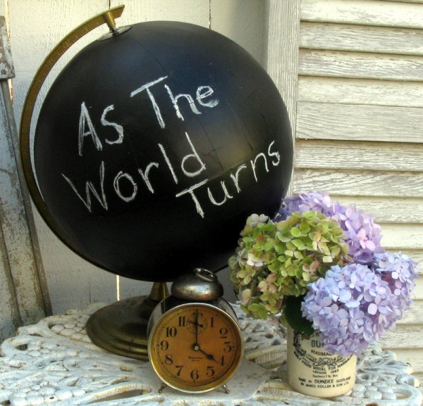 what to do with chalkboard paint - chalkboard globe