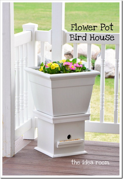diy bird feeders - flower pot bird feeder