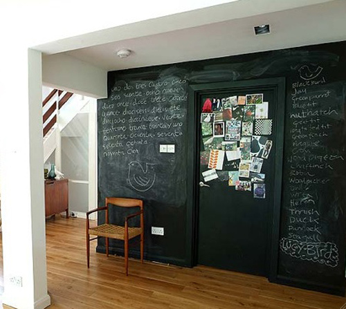 what to do with chalkboard paint - make a chalkboard feature wall