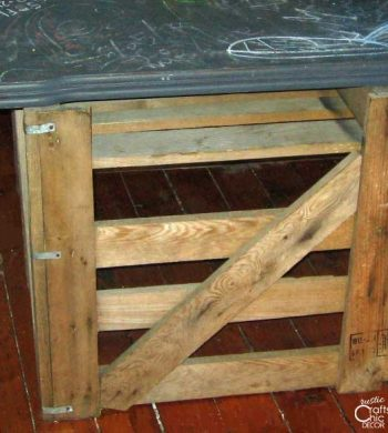 what to do with chalkboard paint - paint a tabletop