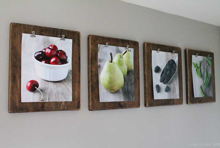 creative picture frames - DIY clipboards