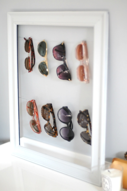 DIY organization - sunglasses storage