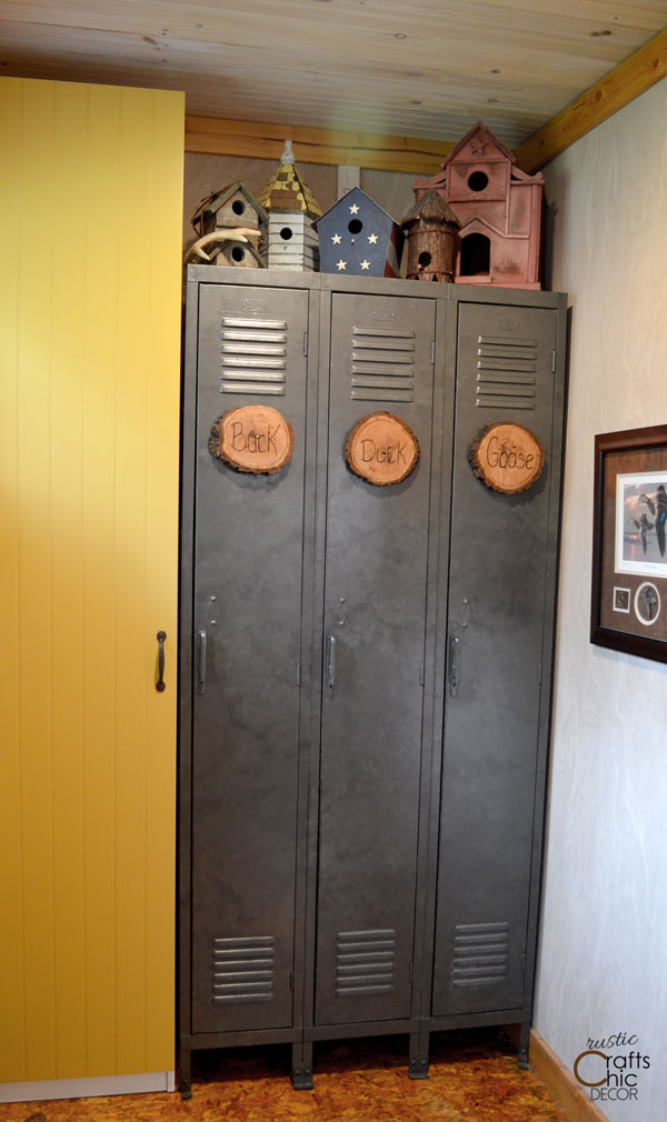 diy galvanized paint on old lockers