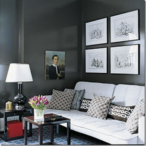 painting in shades of gray - dark slate gray