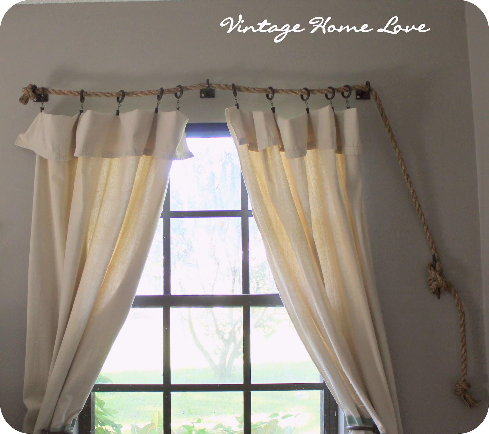 Diy Curtain Rods Rustic Crafts Chic Decor