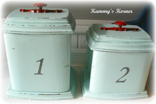 DIY shabby chic home decor - vintage canister makeover
