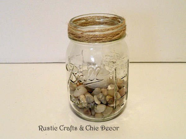 outdoor mason jar ideas - mason jar tealight holder