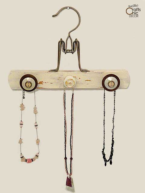 diy jewelry holders - pant hanger holder