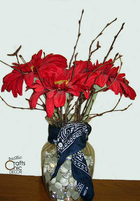 easy memorial day crafts - patriotic centerpiece
