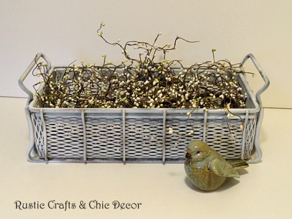 DIY shabby chic home decor - industrial shabby chic basket