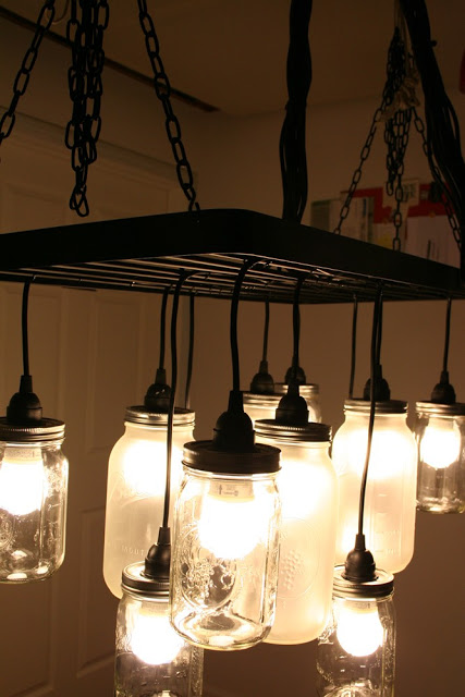 diy lighting - mason jar chandelier