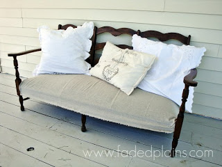 sofa makeover to use as outdoor furniture