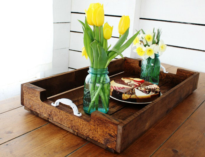 ideas for pallets - diy farmhouse style pallet tray