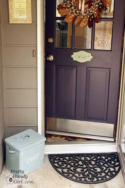painted front doors - purple