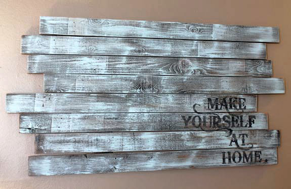 upcycled fence posts