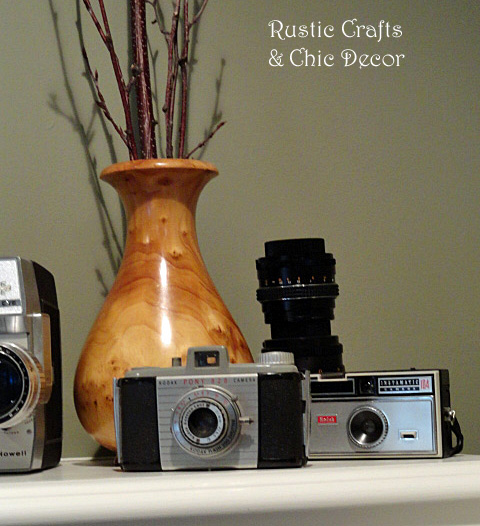 decorating with cameras by rustic-crafts.com