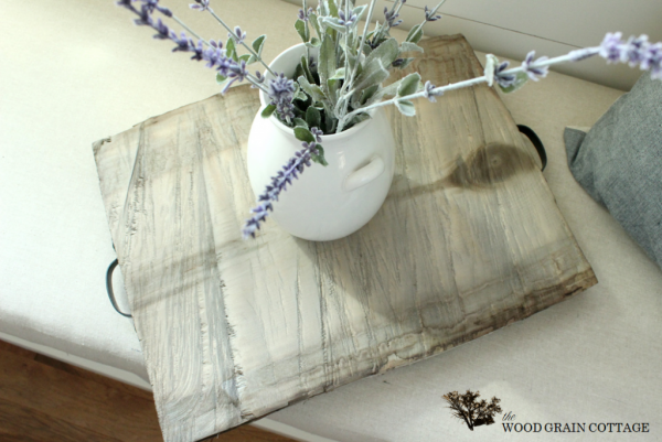 weathered wood tray