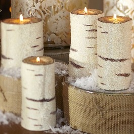 Pottery Barn birch bark candle holder
