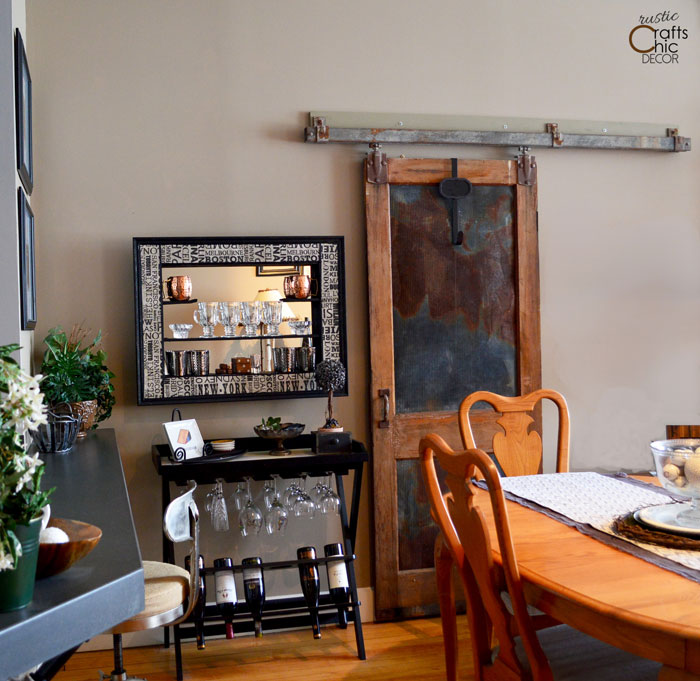 rustic chic decor DIY - add a sliding barn door