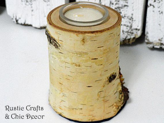 DIY knock offs - birch candles