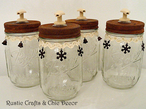 mason jar crafts by rustic-crafts.com