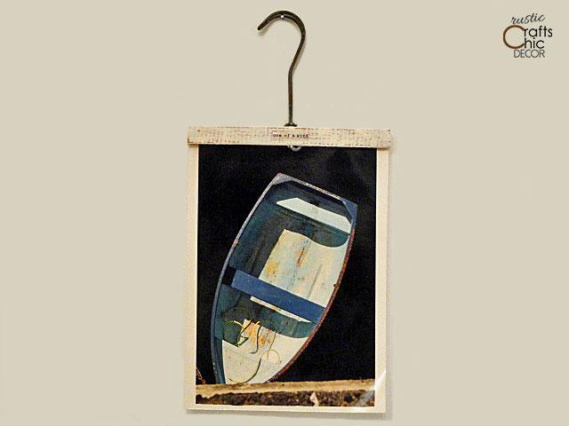 wooden hangers craft - photo holder