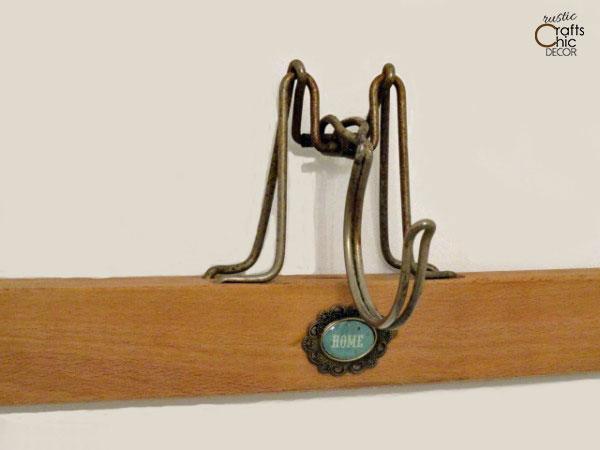 wooden hanger crafts - coat hook