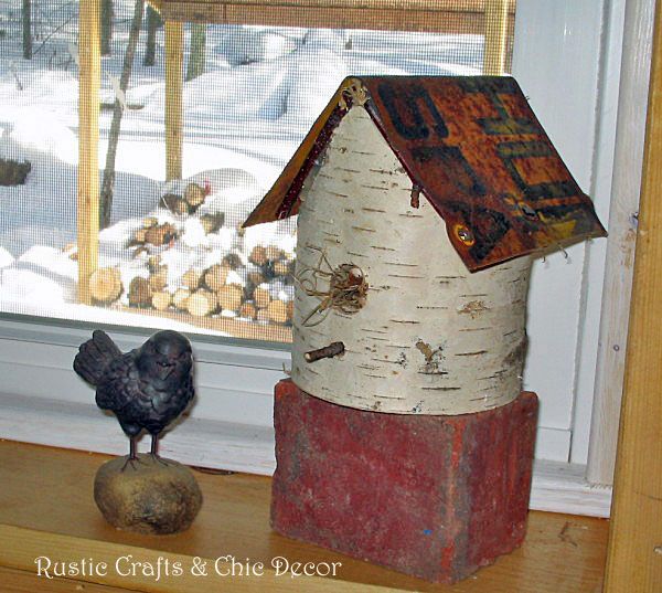 top rustic crafts - birch birdhouse by rustic-crafts.com