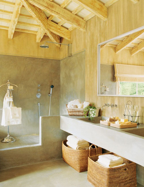 rustic chic bathroom designs