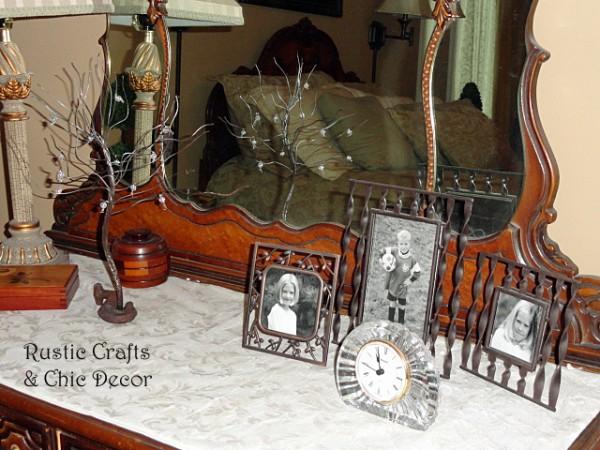 decorating a dresser top by rustic-crafts.com