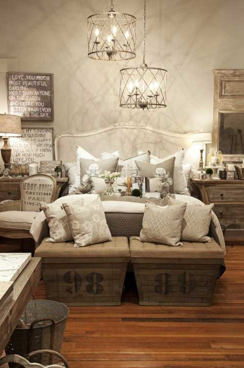 rustic chic bedroom design