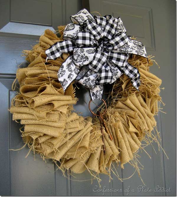 burlap craft ideas burlap crafts that are easy to make rustic crafts amp chic 1184