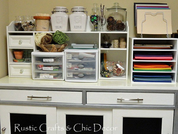 decorative diy craft storage cabinets - rustic crafts & chic decor