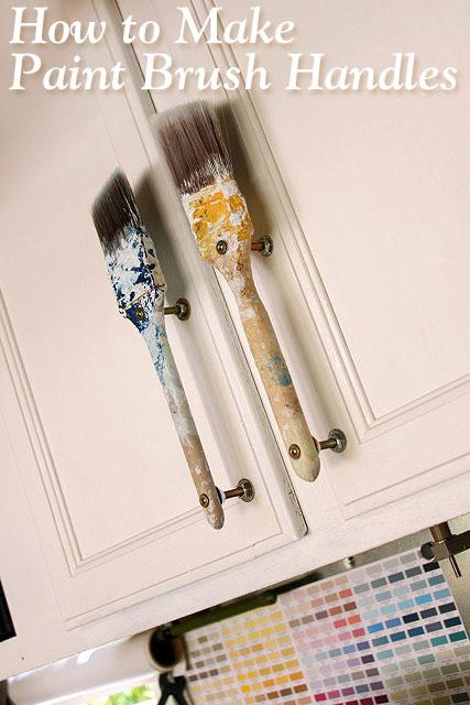 paintbrush cabinet handles