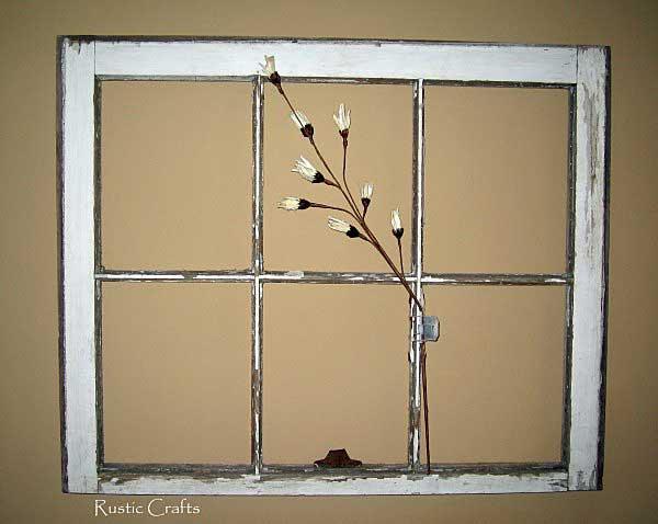 vintage window frame by rustic-crafts.com