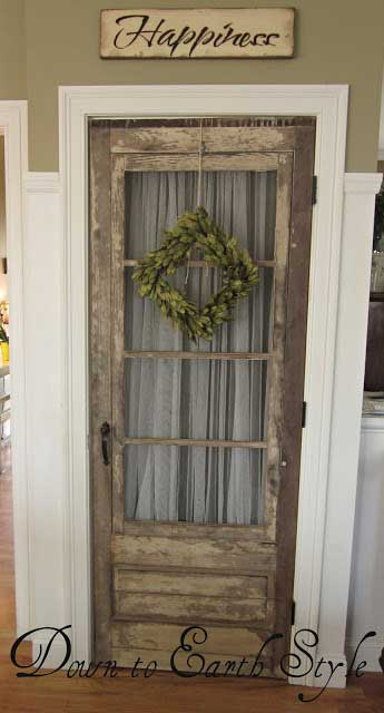 vintage basement door