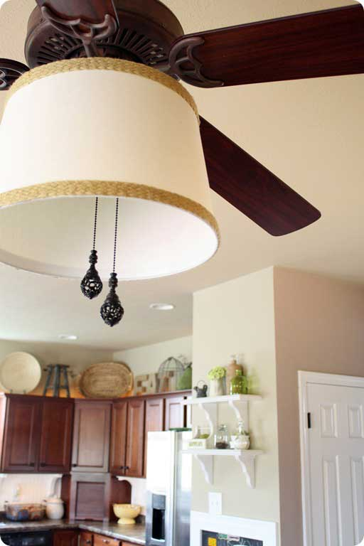 diy lighting ideas: ceiling fan shade