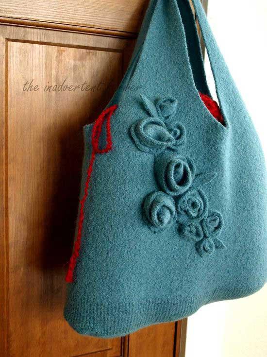 diy felted sweater handbag