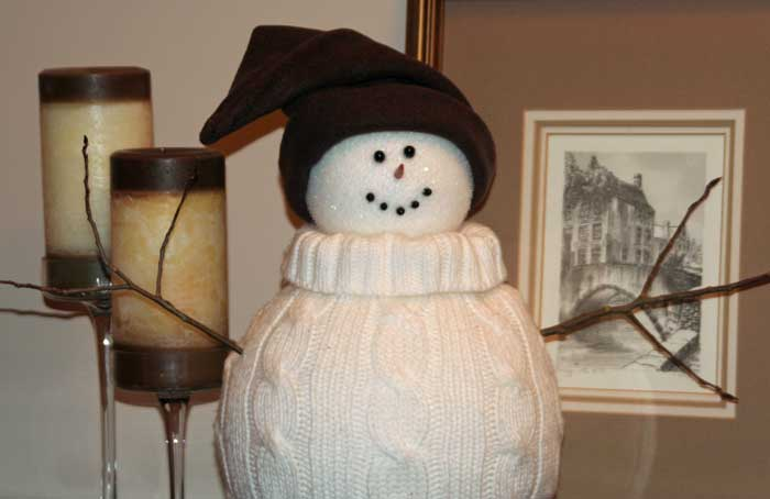 diy sweater snowman