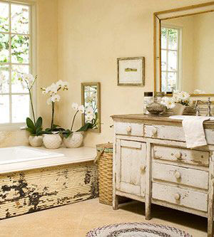 rustic chic bathroom