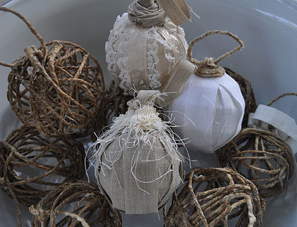 rustic chic ornaments