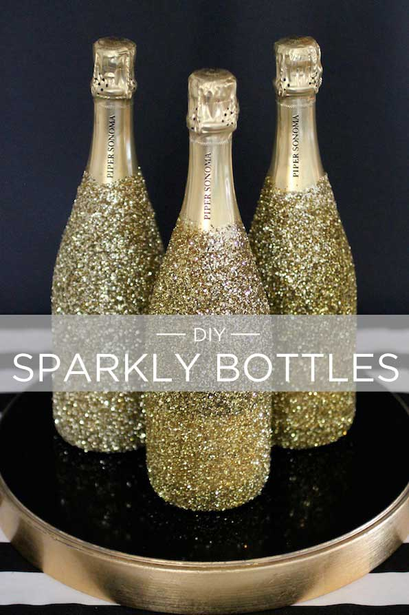 diy sparkly bottles